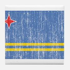 Aruba Flag Tile Coaster