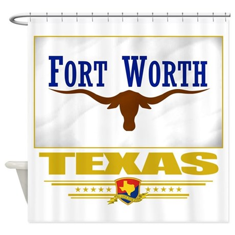 Fort Worth (Flag 10).png Shower Curtain