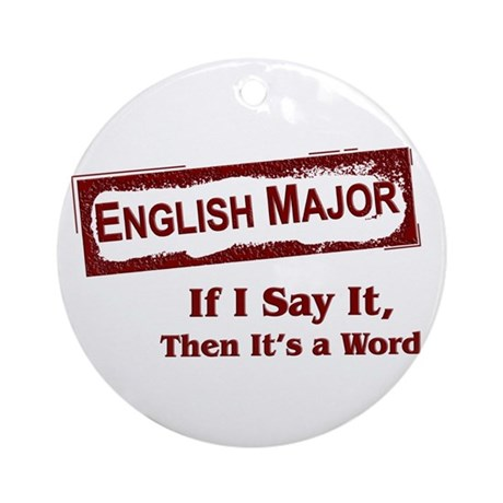 English Major Ornament (Round)