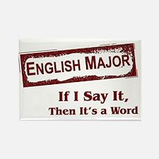English Major Rectangle Magnet