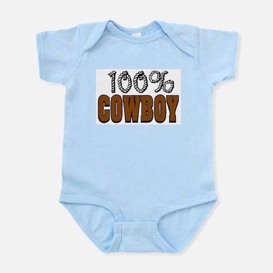 100% Cowboy Infant Creeper