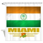 Miami (Flag 10).png Shower Curtain