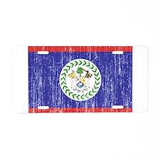 Belize Flag Aluminum License Plate