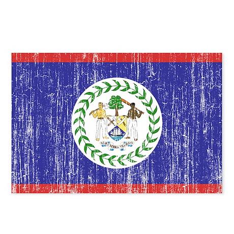 Belize Flag Postcards (Package of 8)