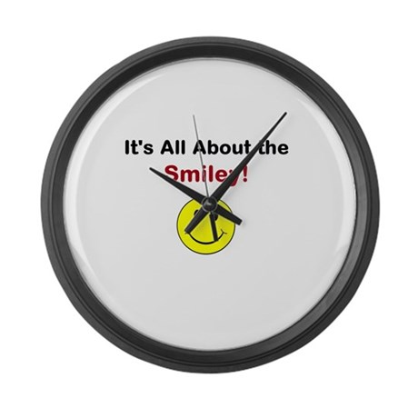 Its all about the Smiley! Large Wall Clock
