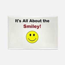 Its all about the Smiley! Rectangle Magnet (10 pac
