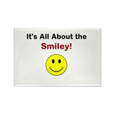 Its all about the Smiley! Rectangle Magnet