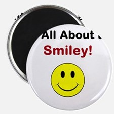 """Its all about the Smiley! 2.25"""" Magnet (10 pack)"""