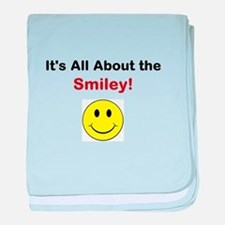 Its all about the Smiley! baby blanket