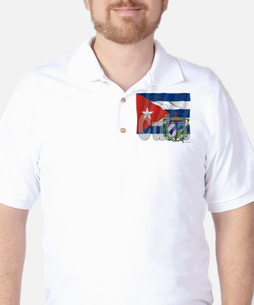 Silky Flag of Cuba Golf Shirt