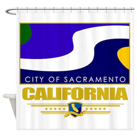 Sacramento (Flag 10).png Shower Curtain