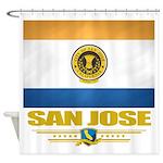San Jose (Flag 10).png Shower Curtain