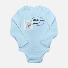 Water you doing? Long Sleeve Infant Bodysuit
