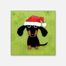 "Doxie Clause Square Sticker 3"" x 3"""