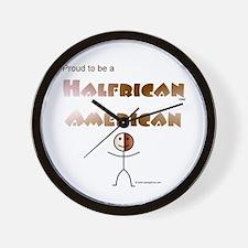 Halfrican American 1 Wall Clock