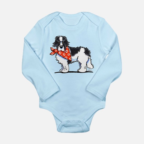 Landseer Newfie Sailor Long Sleeve Infant Bodysuit