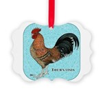 Tournaisis Rooster Picture Ornament