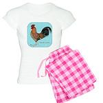 Tournaisis Rooster Women's Light Pajamas