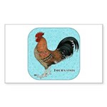 Tournaisis Rooster Sticker (Rectangle 50 pk)