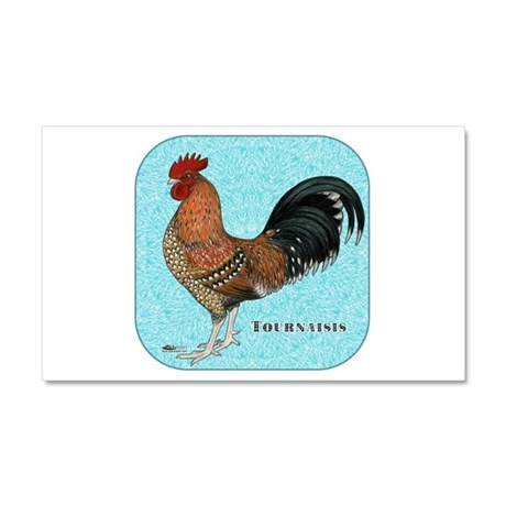 Tournaisis Rooster Car Magnet 20 x 12