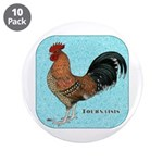 """Tournaisis Rooster 3.5"""" Button (10 pack)"""