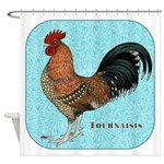 Tournaisis Rooster Shower Curtain