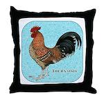 Tournaisis Rooster Throw Pillow