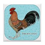 Tournaisis Rooster Tile Coaster