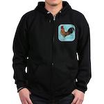 Tournaisis Rooster Zip Hoodie (dark)