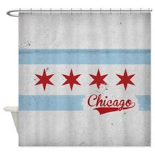 Chicago City Flag - Vintage Shower Curtain