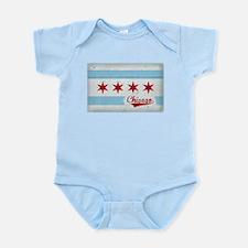 Vintage Chicago Flag Design Infant Bodysuit