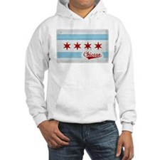 Vintage Chicago Flag Design Hoodie