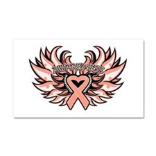 Uterine Cancer Wings Car Magnet 20 x 12