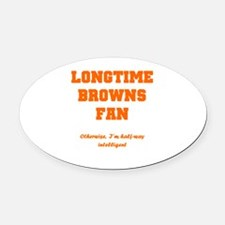 Browns Oval Car Magnet