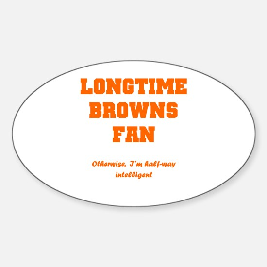 Browns Sticker (Oval 10 pk)