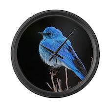 Mountain Blue Bird Large Wall Clock