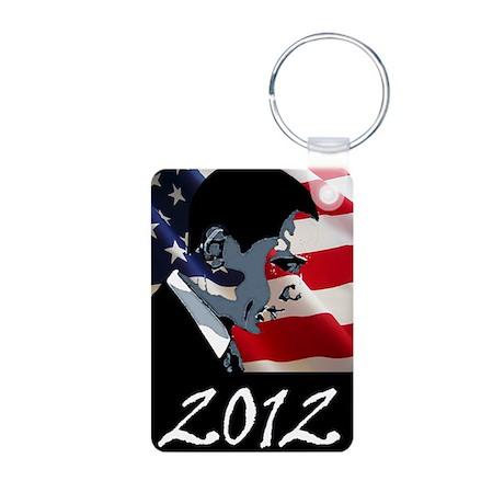 Obama 2012 Aluminum Photo Keychain