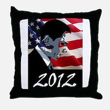 Obama 2012 Throw Pillow