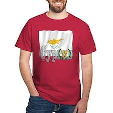 Silky Flag of Cyprus Black T-Shirt
