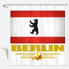 Berlin (Flag 10).png Shower Curtain