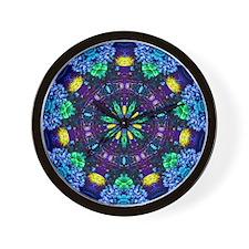 Flower Garden Wall Clock - Blue/Purple