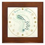Serpent Mound Spiral Framed Tile