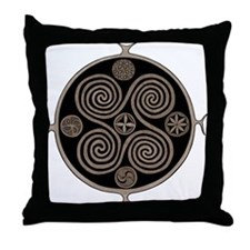 Norse Spiral Design Throw Pillow
