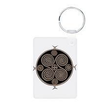 Norse Spiral Design Aluminum Photo Keychain