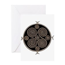 Norse Spiral Design Greeting Card