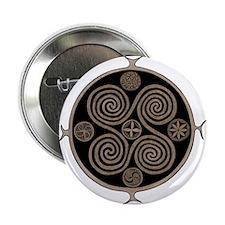 "Norse Spiral Design 2.25"" Button"