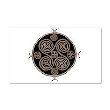 Norse Spiral Design Car Magnet 20 x 12