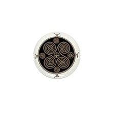 Norse Spiral Design Mini Button (10 pack)