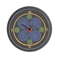 Norse Spiral Design Wall Clock