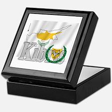 Silky Flag of Cyprus (Turkish) Keepsake Box